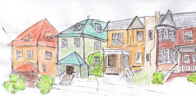 Houses on Wayne Street