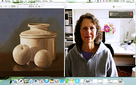 Jana and her painting 2013-07-16 web